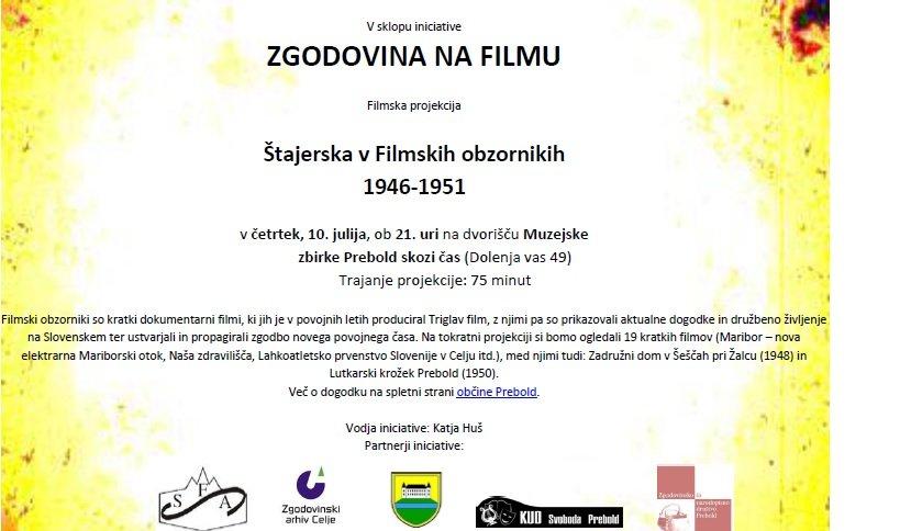 Vabilo_Štajerska v Filmskih obzornikih