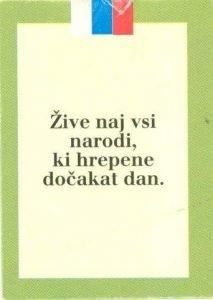 izrez Slovenija - referendum 1990