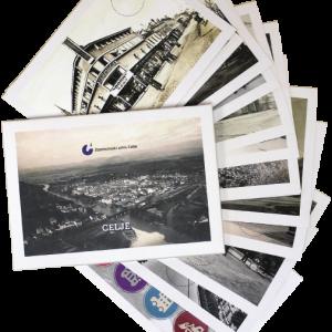12 razglednic z motivi Celja, kot ga je v prvi polovici 20. stoletja posnel Foto Pelikan